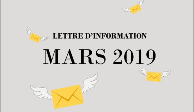 Lettre d'information – Mars 2019