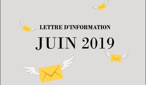 Lettre d'information – Mai-Juin 2019