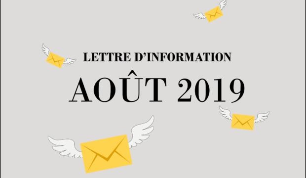 Lettre d'information – Eté 2019