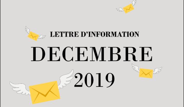 Lettre d'information – Décembre 2019