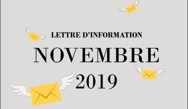 Lettre d'information – Novembre 2019