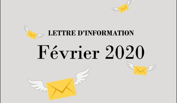 Lettre d'informations – Février 2020