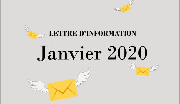 Lettre d'information – Janvier 2020