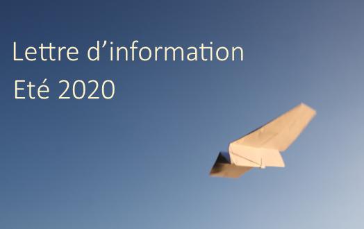 Lettre d'information – été 2020