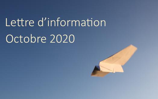 Lettre d'information – Octobre 2020